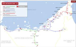 Etihad rail network UAE